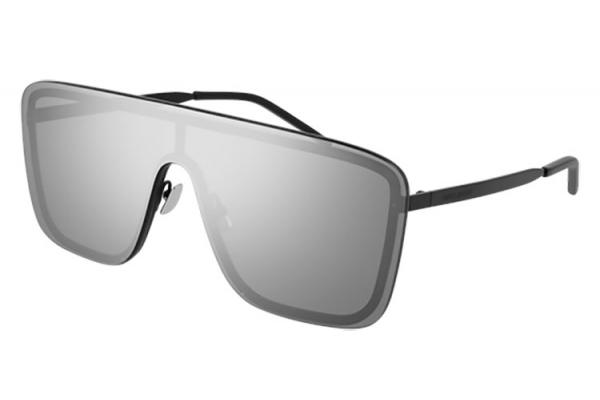 Large image of Saint Laurent Black Mask Unisex Sunglasses - SL364MASK003