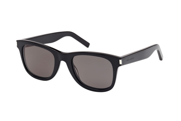 Large image of Saint Laurent Black Rectangle Unisex Sunglasses - SL 51-002 50
