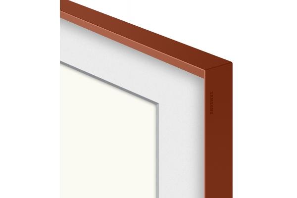 "Large image of Samsung (2021) 55"" The Frame Customizable Bezel In Beveled Brick Red - VG-SCFA55TRCZA"
