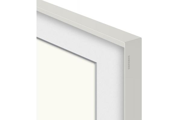 """Large image of Samsung (2021) 65"""" The Frame Customizable Bezel In Beveled White - VG-SCFA65WTCZA"""