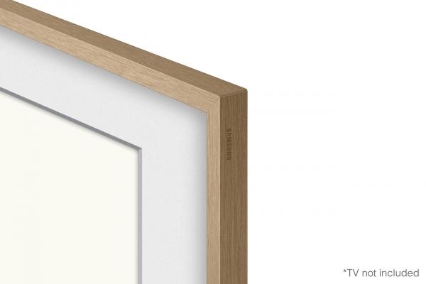 "Large image of Samsung (2021) 75"" The Frame Customizable Bezel In Modern Teak - VG-SCFA75TKBZA"