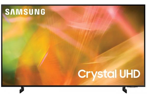 """Large image of Samsung 43"""" AU8000 Black Crystal UHD 4K Smart TV (2021) - UN43AU8000FXZA"""