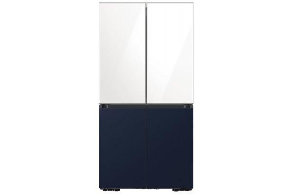 Large image of Samsung 23 Cu. Ft. Custom Panel Smart Counter-Depth BESPOKE 4-Door Flex Refrigerator - RF23A9675AP/AA