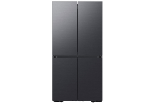 Large image of Samsung 23 Cu. Ft. Matte Black Steel Smart Counter-Depth BESPOKE 4-Door Flex Refrigerator - RF23A9675MT/AA