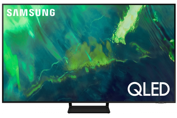 "Large image of Samsung 55"" Q70A Black QLED 4K UHD Smart TV (2021) - QN55Q70AAFXZA"