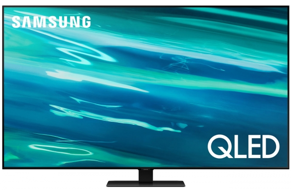 "Large image of Samsung 50"" Q80A Black QLED 4K UHD Smart TV (2021) - QN50Q80AAFXZA"