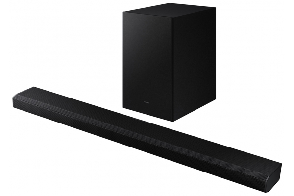 Large image of Samsung Black HW-Q700A 3.1.2 Channel Soundbar With Dolby Atmos And DTS:X (2021) - HW-Q700A/ZA