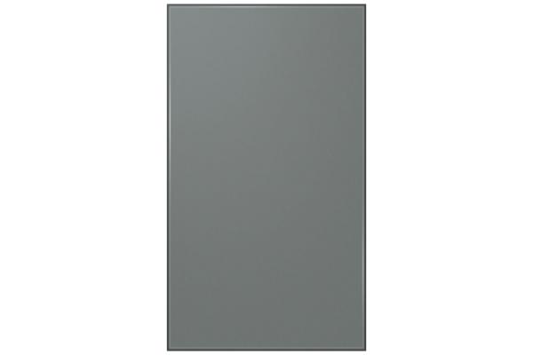 Large image of Samsung Grey (Matte) Glass BESPOKE 4-Door Flex Refrigerator Bottom Panel - RA-F18DBB31/AA