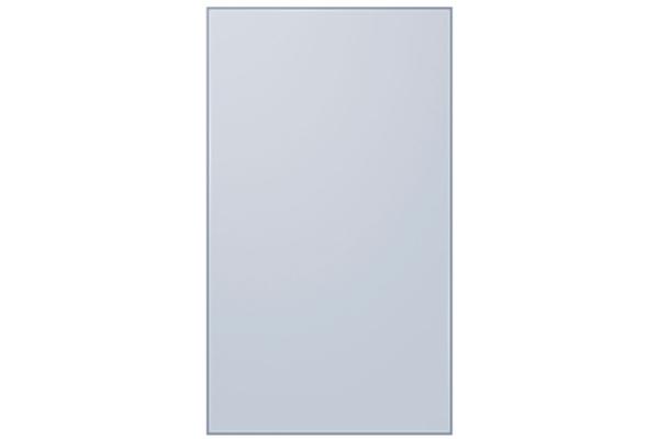 Large image of Samsung Sky Blue (Matte) Glass BESPOKE 4-Door Flex Refrigerator Bottom Panel - RA-F18DBB48/AA