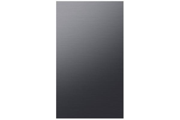 Large image of Samsung Matte Black Steel BESPOKE 4-Door Flex Refrigerator Bottom Panel - RA-F18DBBMT/AA