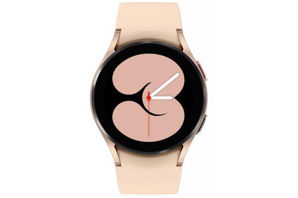 Large image of Samsung Pink Gold Galaxy Watch 4 40mm LTE Smartwatch - SM-R865UZDAXAA