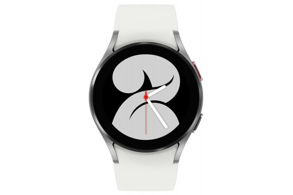 Large image of Samsung Silver Galaxy Watch 4 40mm Bluetooth Smartwatch - SM-R860NZSAXAA