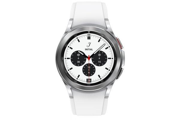 Large image of Samsung Silver Galaxy Watch 4 Classic 42mm Bluetooth Smartwatch - SM-R880NZSAXAA