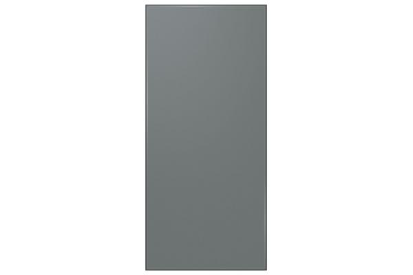 Large image of Samsung Grey (Matte) Glass BESPOKE 4-Door Flex Refrigerator Top Panel - RA-F18DUU31/AA