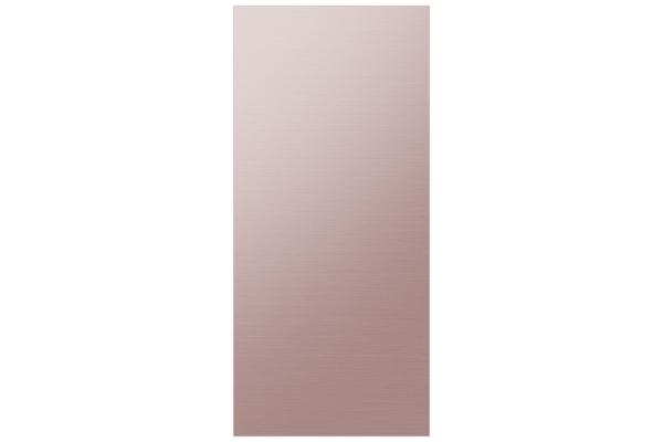 Large image of Samsung Champagne Rose Steel BESPOKE 4-Door Flex Refrigerator Top Panel - RA-F18DUUQH/AA