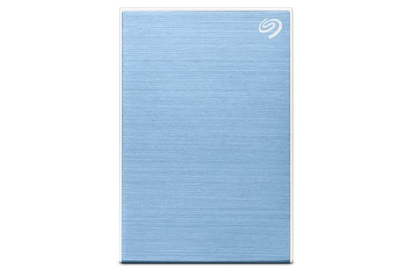 Large image of Seagate 1TB One Touch Light Blue Portable Hard Drive - STKB1000402