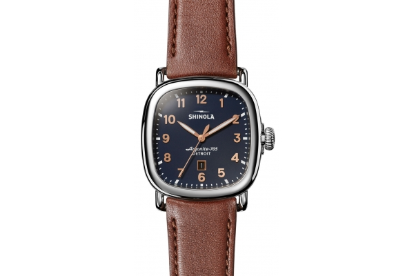 Large image of Shinola The Guardian 41.5mm Midnight Blue Dial Mens Watch - S0120194181