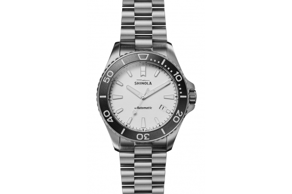 Large image of Shinola The Ice Monster Automatic 43mm White Dial Mens Watch - S0120194496
