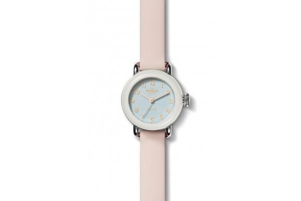 Large image of Shinola The Pee-Wee Detrola Quartz Pink Silicone Strap Watch, 25mm - S0120213328