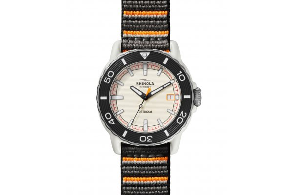 Large image of Shinola The Sea Creatures Multi Strap Watch, Cream Dial, 40mm - S0120225330