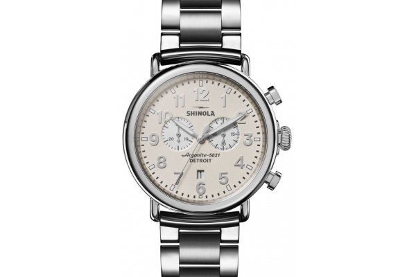 Large image of Shinola The Runwell Chrono 47mm Stainless Steel Mens Watch - S0120183148