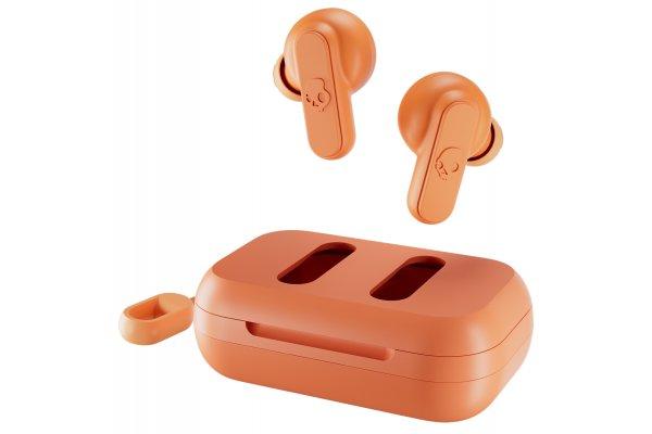 Large image of Skullcandy Dime True Wireless Golden Orange Earbuds - S2DMW-P754