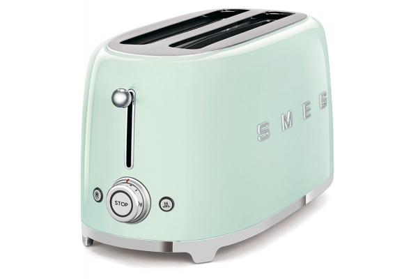Large image of Smeg 50's Retro Style Aesthetic Pastel Green 4 Slice Toaster - TSF02PGUS