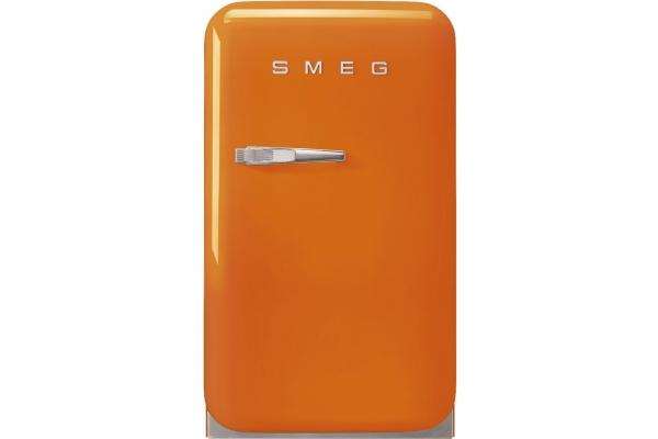 Large image of Smeg 50s Retro Style Mini Orange Right-Hinge Refrigerator - FAB5UROR3