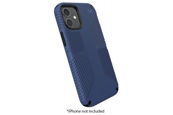 Large image of Speck Presidio 2 Grip Black/Storm Blue Apple iPhone 12 Mini Case - 138475-9128