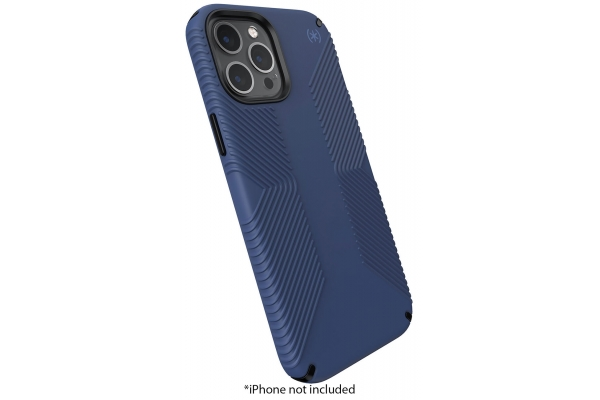 Large image of Speck Presidio 2 Grip Black/Storm Blue Apple iPhone 12 Pro Max Case - 138500-9128
