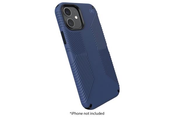 Large image of Speck Presidio 2 Grip Black/Storm Blue Apple iPhone 12/iPhone 12 Pro Case - 138487-9128