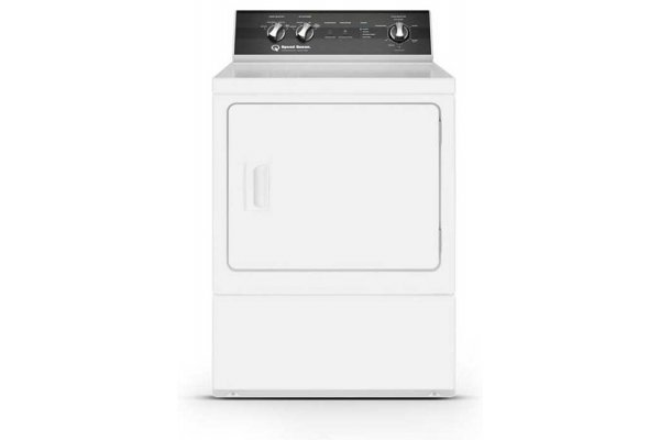 Large image of Speed Queen 7 Cu. Ft. White Sanitizing Gas Dryer With Steam - ADG6HRYS117TW01