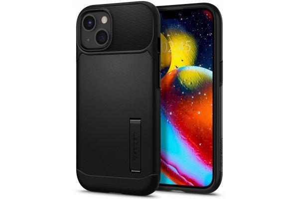 Large image of Spigen iPhone 13 Black Slim Armor Case - ACS03424