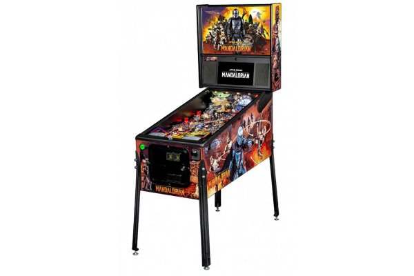 Large image of Stern Pinball The Mandalorian Premium Edition Pinball Machine - MANDALORIANPREMIUM