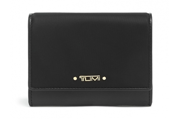 Large image of TUMI Voyageur Black Accordion Card Case - 135507-1041