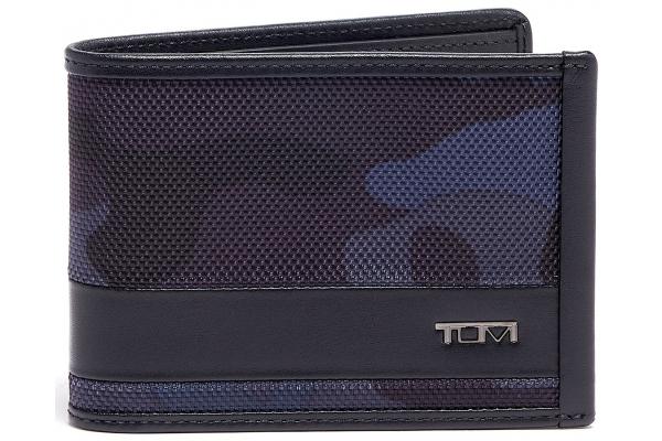 Large image of TUMI Alpha Navy Camo/Black Double Billfold Wallet - 135608-9056