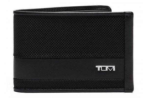 Large image of TUMI Alpha Black Slim Single Billfold - 135650-1041