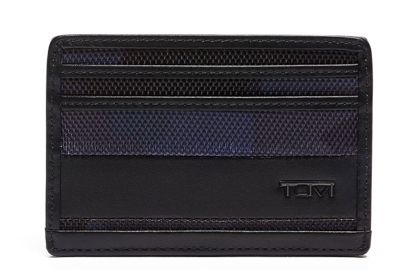 Large image of TUMI Alpha Navy Camo/Black Slim Card Case - 135635-9056