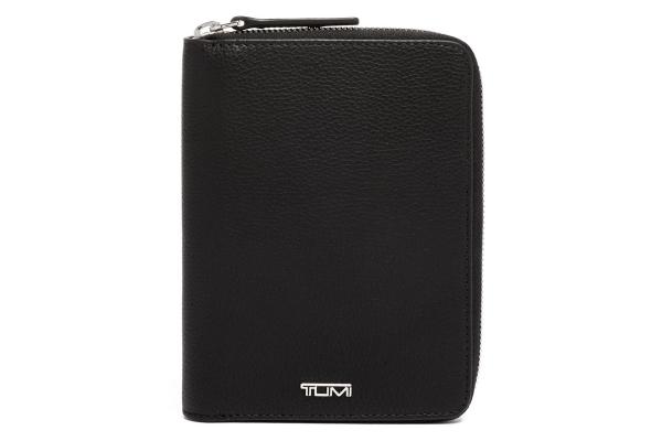 Large image of TUMI Belden Black Zip-Around Passport Case - 135512-1041