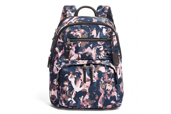 Large image of Tumi Voyageur Dusty Rose Floral Hilden Backpack - 125050-9314
