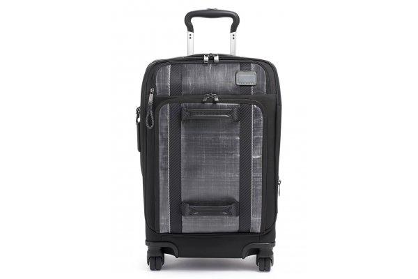 Large image of TUMI Merge Black/White International Front Lid 4 Wheeled Carry-On - 135602-1082