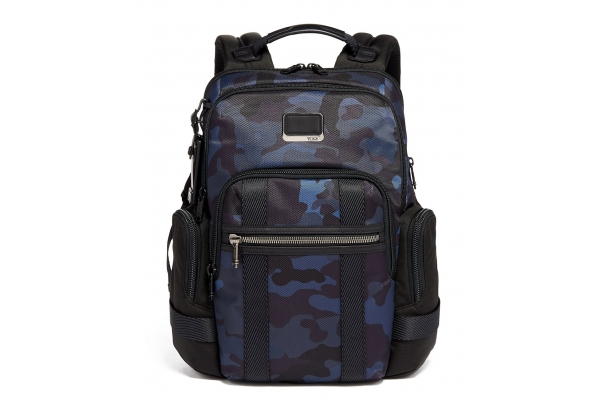 Large image of TUMI Alpha Bravo Navy Camo Nathan Expandable Backpack - 135530-7105