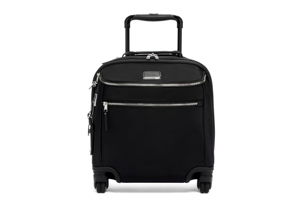 Large image of TUMI Voyageur Black/Silver Oxford Compact Carry-On - 135491-1077