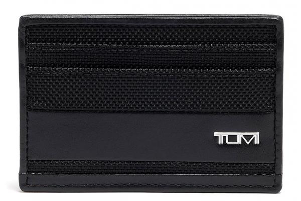 Large image of TUMI Alpha Black Slim Card Case - 135633-1041