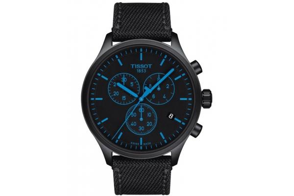 Large image of Tissot Chrono XL Black Fabric Strap Watch, Black Dial, 45mm - T1166173705100