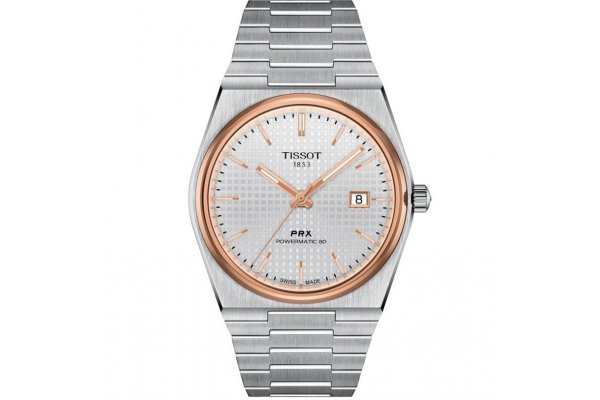 Large image of Tissot PRX Powermatic 80 Automatic Silver Dial Watch, 39.50mm - T1374072103100