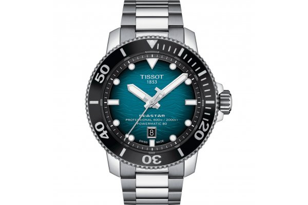 Large image of Tissot Seastar 2000 Professional Powermatic 80 Watch, Blue Gradient Dial, 46mm - T1206071104100