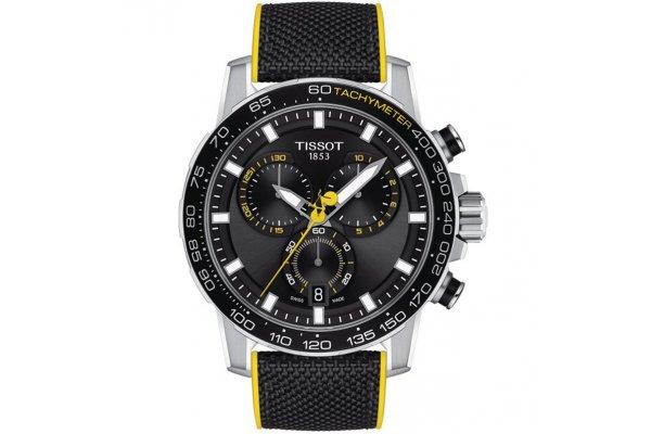 Large image of Tissot Supersport Chrono Tour De France Watch, Black Dial, 45.50mm - T1256171705100