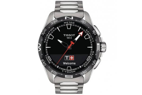 Large image of Tissot T-Touch Connect Solar Quartz Grey Titanium Bracelet Watch, 47.50mm - T1214204405100