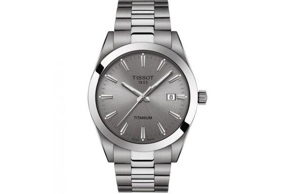 Large image of Tissot Gentleman Titanium Gray Dial Titanium Watch, 40mm - T1274104408100